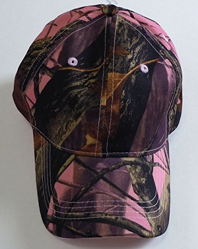 Camouflage Hat with Hardwood Pattern, 5 Colors to Choose From (Pink Camo)