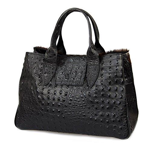 IO.IO.MIO Borsetta per le Icone® , Sac à main pour femme Noir Noir 36,5x24x18 cm