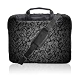 TaylorHe 15.6 inch 15 inch 16 inch Hard Wearing Nylon Laptop Carry Case Colourful Laptop Shoulder Bag with Patterns, Side Pockets Handles and Detachable Strap Vintage Paisley Patterns