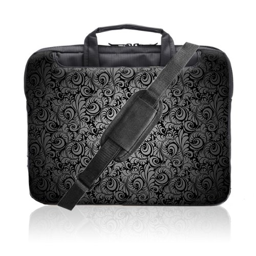 TaylorHe 15.6 inch 15 inch 16 inch Hard Wearing Nylon Laptop Carry Case Colourful Laptop Shoulder Bag with Patterns, Side Pockets Handles and Detachable Strap Vintage Paisley Patterns by 15'6 inch TaylorHe Nylon Laptop Carry Cases (Image #1)