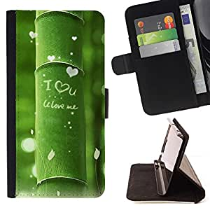 Momo Phone Case / Flip Funda de Cuero Case Cover - Naturaleza Hermosa Forrest Verde 11 - Samsung Galaxy S6 Edge Plus / S6 Edge+ G928