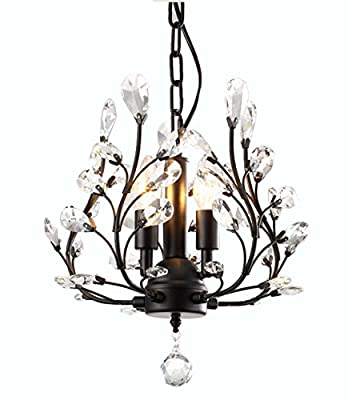 LuFun Modern Crystal Chandeliers,Crystal Pendant Light,Chandelier Lighting Fixtures,Ceiling Light for Living Room Bedroom Restaurant Hallway