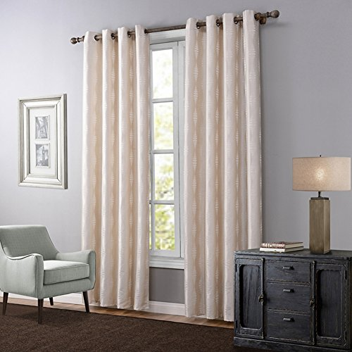 JackLook Blackout Room Darkening Curtains Window Panel Drapes - 2 Panel Set, 55 inch wide by 94 inch long each panel (94 Inch Blackout Curtains)