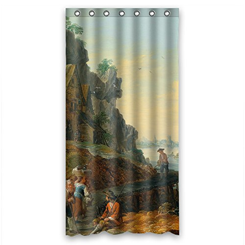 SUNSMILES Width X Height / 36 X 72 Inches / W H 90 By 180 Cm Polyester Beautiful Scenery Landscape Painting Shower Curtains Fabric Is Fit For Boys Hotel Girls Birthday Father. Modern Des -