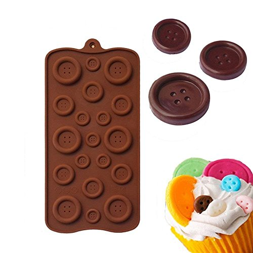 Wewin Button Shape Non-stick Silicone Chocolate Molds Jelly Ice Molds Cake Mould Baking Decoration Tools for Dessert Food