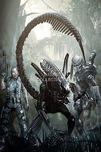 CGC Huge Poster - Alien vs Predator PS3 XBOX 360 - OTH110 (24