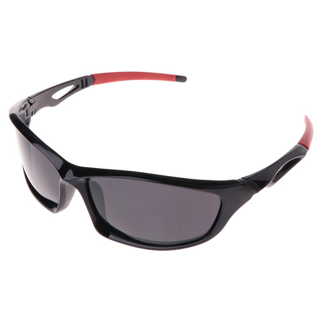 Aixia サイクリングサングラス 偏光 ユニセックス 眼鏡保護 運転 アウトドア スポーツ  Grey(Red legs) B07FNY3RQH