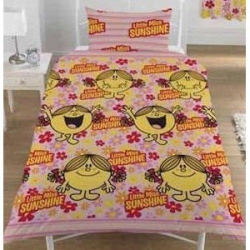 Little Miss Sunshine Costume (Mr Men Little Miss Sunshine Bloom Single Duvet Cover Rotary)