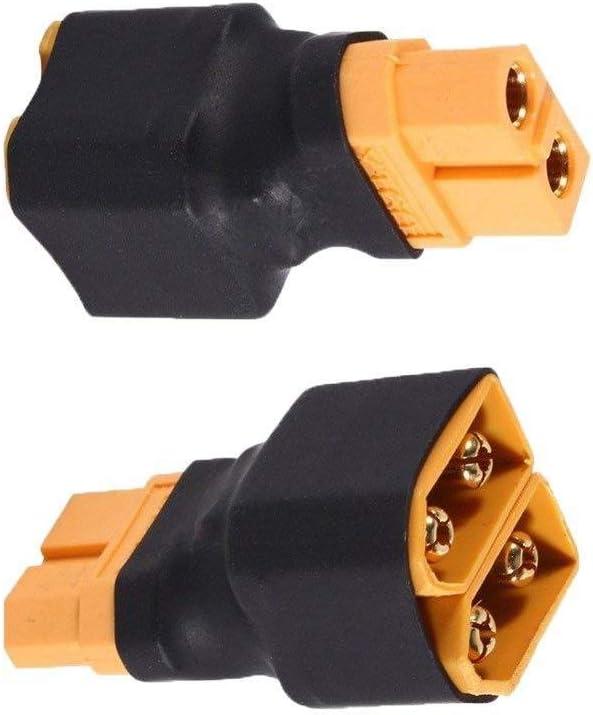 DI-2L0J-35E4 YUNIQUE DEUTSCHLAND St/ück Parallel ohne Kabel f/ür RC Lipo Akku 1 Weiblich 2 Stecker zu XT60