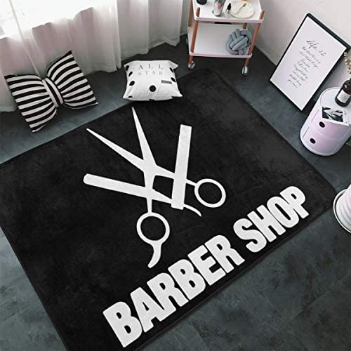 Barber Shop Area Rug Rugs Non-Slip Floor Mat Doormats For Home Decor 60 X 39 Inches