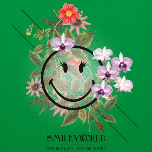 Kelly Green World Bag Spreadshirt Quote With Tote French Smiley Flowers 8wBqS4f