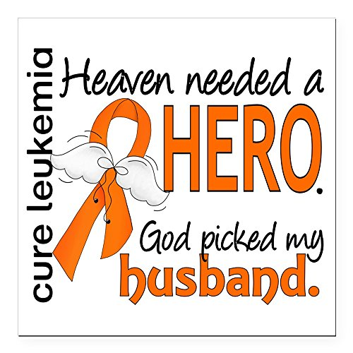 CafePress - Leukemia Heaven Needed H Square Car Magnet 3