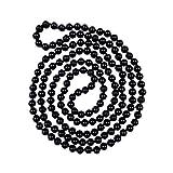 BjB Jewelry 60 Inch 8MM Polished Genuine Black Onyx Multi-layer Long Endless Infinity Beaded Unisex Necklace.