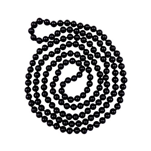 MGR MY GEMS ROCK! 60 Inch 8MM Polished Genuine Black Onyx Multi-Layer Long Endless Infinity Beaded Unisex Necklace.