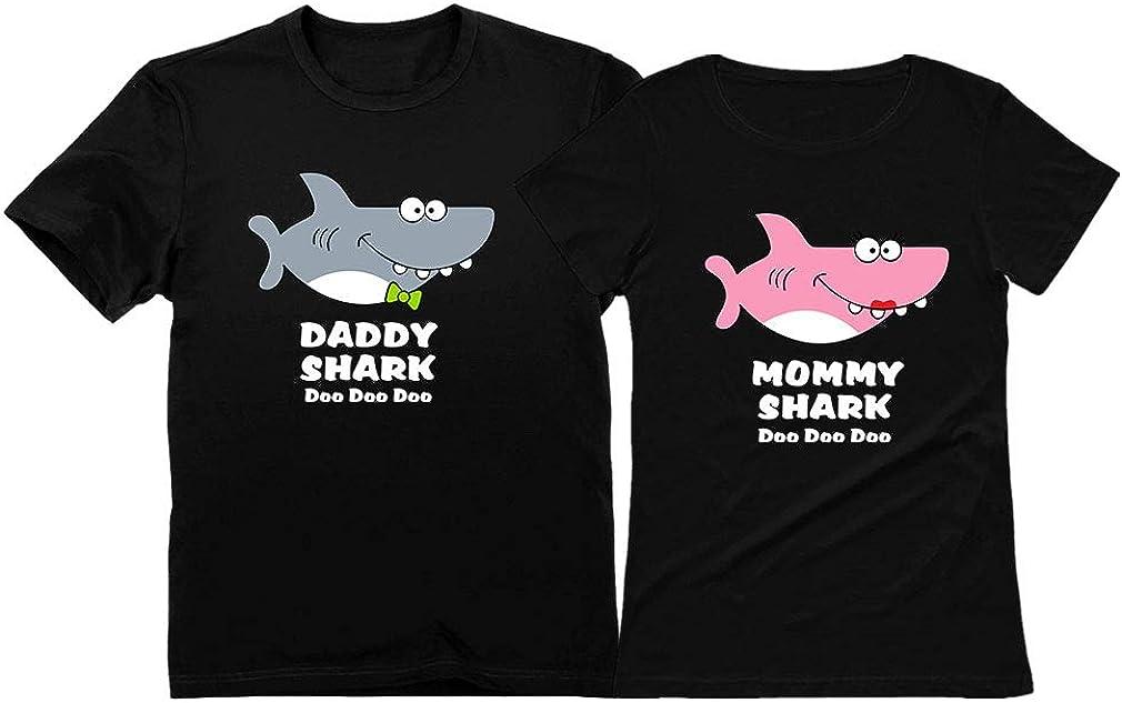 Daddy Shark Mommy Shark Doo Doo Doo Mom and Dad Gift T-Shirt Funny Family Set