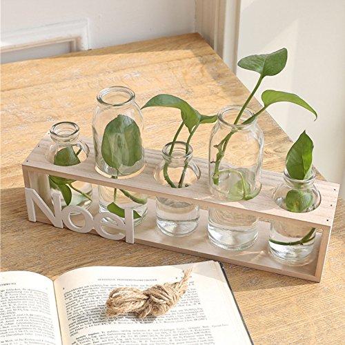 Transparent Glass Vase Flower Pot Hydroponic Plant Container Living Room Wall Desk Trim A