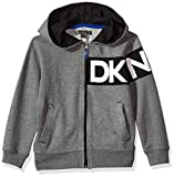 DKNY Boys' Long Sleeve Sweatshirt (More Styles Available), Medium Heather, 4T