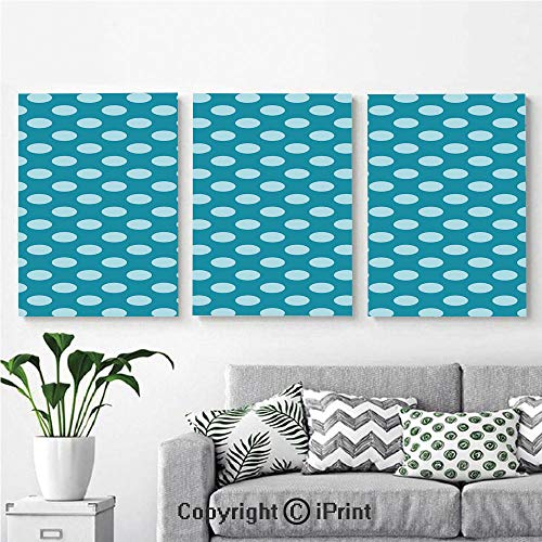 High Definition Printing Retro Style Pattern with Polka Dots Soft High Seas Colored Light Blue Spots Blots Painting Home Decoration Living Room Bedroom Background,16