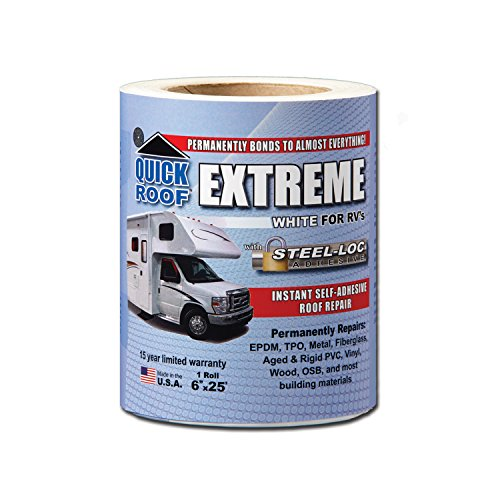 (Cofair UBE625 Quick Roof Extreme with Steel-Loc Adhesive, White for RVs - 6