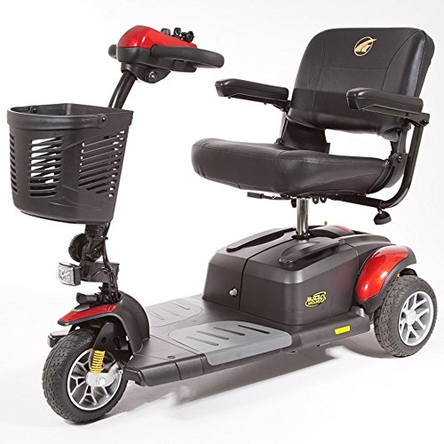 Golden Technologies Buzzaround EX 3-Wheel Travel Mobility Scooter, Red