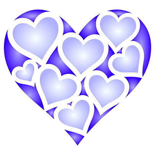 Heart Stencil - 3.25 x 3 inch (S) - Reusable Valentines Day Love Friendship Motif Wall Stencil Template - Use on Paper Projects Scrapbook Journal Walls Floors Fabric Furniture Glass Wood etc.