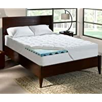 Perfect Sleeper Serta King - 4 Inch - Cushioned Plush Gel-Memory Foam Mattress Topper - 76 x 80 x 4