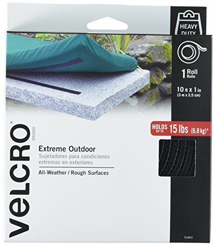 VELCRO Brand - Extreme Outdoor - Extreme - 1' Wide Tape, 10' - Black