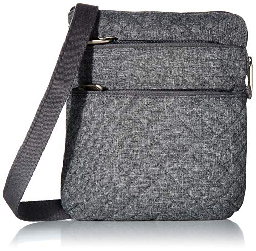 Travelon Anti-Theft Boho Slim Bag Travel Cross-Body, Gray Heather, One Size