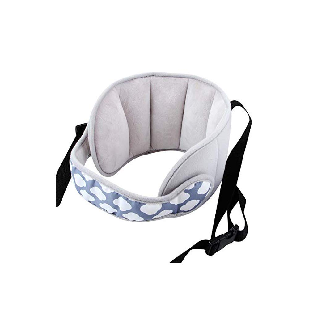AIPINQI Car Seat Head Support Kids Toddler Carseat Head Support Band Head Strap Head Support for Car Seat Safe Sleep Solution for Car Plane Travel Pink