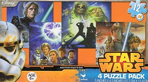 Star Wars 4 Puzzle Pack - 12 Piece Jigsaw Puzzle (Set of 4 Different Puzzles) V3