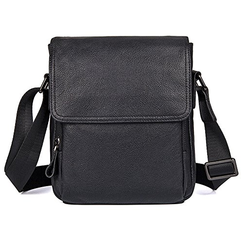 kinokoo Mens Casual Shoulder Bag Small Satchel Genuine Leather