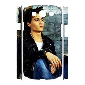 3D Samsung Galaxy S3 Case, Design Johnny Depp Young and Hot Case for Samsung Galaxy S3 {White}