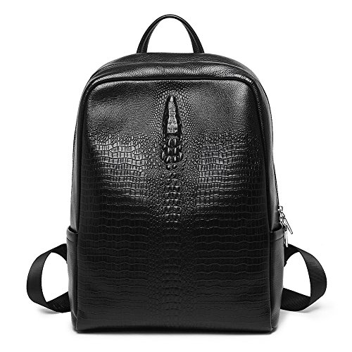 BOSTANTEN Leather Vintage Backpack Purse Daypack Shoulder School Travel Casual Bag Crocodile Crocodile Travel Bag