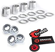 Fireball Dragon Precision Truck Hardware | Axle Nut, Kingpin & Nut, Speed Kits for Skateboard & Lo