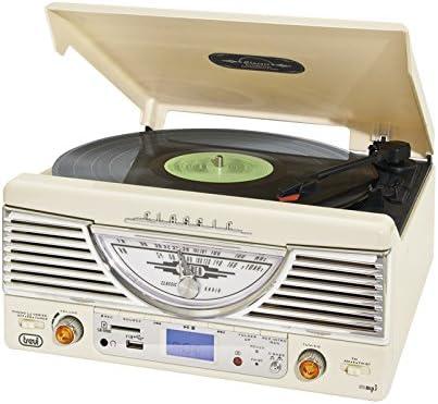 Trevi TT 1062E – Tocadiscos de diseño retro años 50 con entrada ...