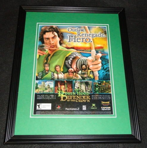 Robin Hood Defender of the Crown 2003 PS2 Framed 11x14 ORIGINAL Advertisement (Robin Hood Defender Of The Crown Ps2)