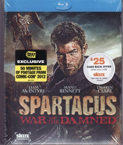 Spartacus: War of the Damned - The Complete Third Season Blu-ray DVD LIMITED EDITION Includes BONUS Disc Featuring 50 Minutes from Comic Con 2012