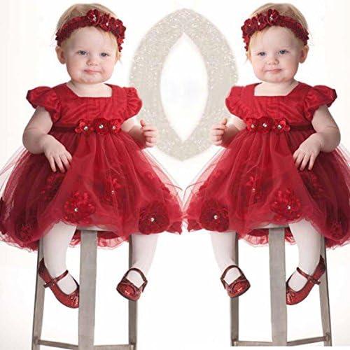 HUI.HUI Princesse De Coton Dentelle Robe Rouge Fleur /él/éGant Fille V/êTements,Ensembles Chemisiers Tops Robes Manteaux Sweats T-Shirts Gilets Pantalon Chaussettes Collants Leggings