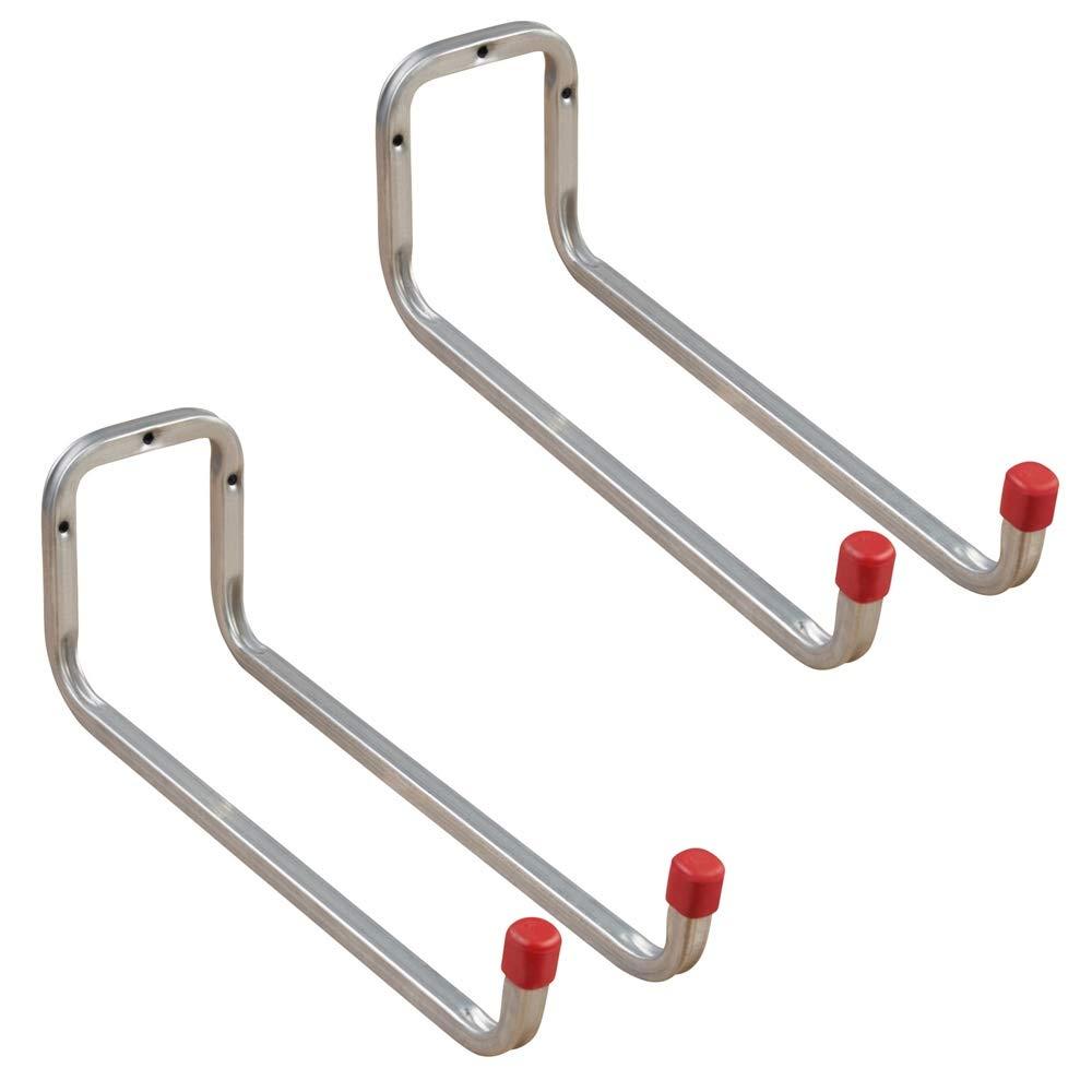 Gedotec Gerä tehalter Metall Leiterhaken Wand-Haken Garage - DUO | Stahl verzinkt | Tiefe: 173 mm | Ordnungshaken zum Schrauben | 2 Stü ck - Universalhaken
