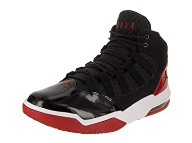 buy online 55759 488f5 Nike Jordan Mens Max Aura Synthetic Leather Trainers