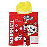 Paw Patrol Childrens/Kids Official Marshall Rescue Poncho Towel (One Size) (Red/Yellow)