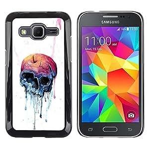EJOY---Cubierta de la caja de protección la piel dura para el ** Samsung Galaxy Core Prime ** --Melting Cráneo de Apple