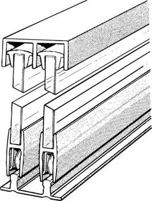 Aluminum Sliding Glass Door Assembly - 3 Foot