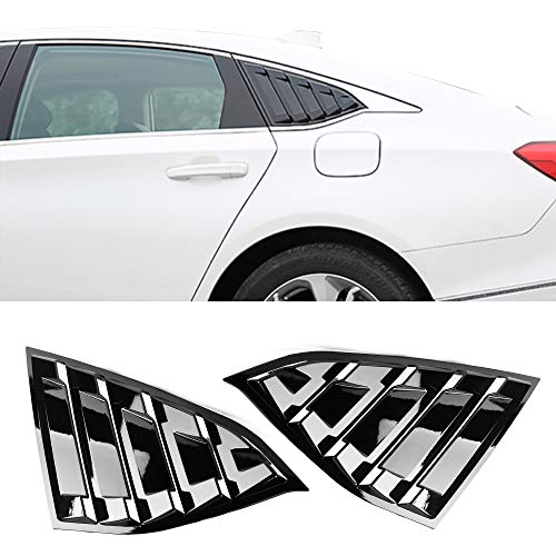 Side Quarter Window Louvers Fits 2018 Honda Accord | Factory Style Gloss Black ABS Panel By IKON MOTORSPORTS