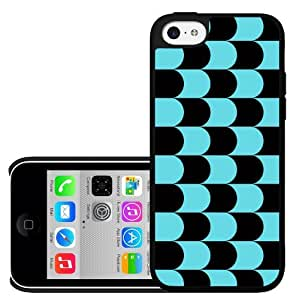 Black and Blue Wave Pattern Hard Snap on Cell Phone Case Cover iPhone (5c)
