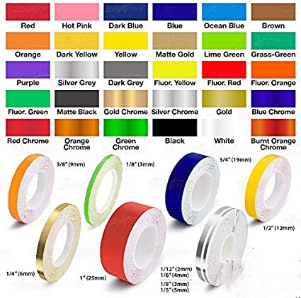 "1/"" Vinyl Pinstriping Pin Stripe Car Body Styling Tape Decal Sticker 25mm WHITE"