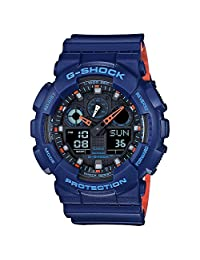 Casio Men's 'G SHOCK' Quartz Resin Casual WatchMulti Color (Model: GA-100L-2ACR)