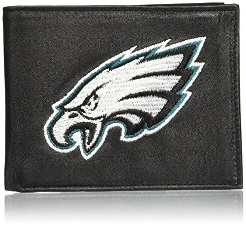 NFL Philadelphia Eagles Embroidered Genuine Leather Billfold Wallet