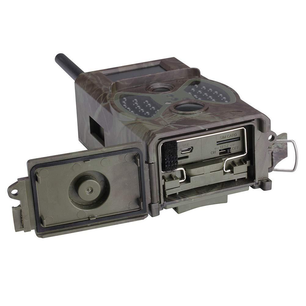 BESTOMZ Cámara de Caza HC-300M 1080p HD Visión Nocturna Impermeable con Red gsm para Monitoreo de Caza Silvestre Seguridad Agrícola Fauna Seguridad Hogar: ...