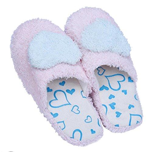 Sagton Winter Warme Liefde Thuis Vloer Zachte Pantoffels Katoen-gevoerde Slippers Schoenen 36-40 Hemelsblauw